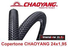"""Copertone CHAOYANG 24x1,95 H5129 Tassellato Nero per Bici 24"""" MTB Mountain Bike"""