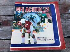 Vintage Nfl 1972 Action Football Sticker Album partial full