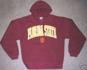 FLORIDA STATE SEMINOLES HOODED SWEATSHIRT SMALL S NEW RED