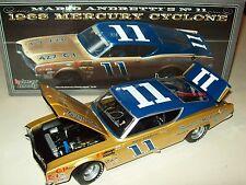 Mario Andretti 1968 Bunnell Motor Co #11 Mercury Cyclone Signed Autograph 1/24