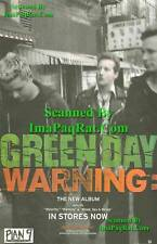 Green Day: Warning: Album Release Photo Print Ad!