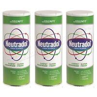 3 x Neutradol Super Fresh Carpet Odour Destroyer Air Freshner Vac n Clean 350g