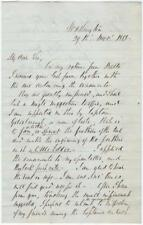 1858 Letter - Uniform Recommendation from a Famous, but Troubled, Navy Explorer