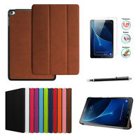Folio Leather Case Cover + Screen Protector For Galaxy Tab A 10.1 SM-T580 T585