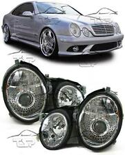 HEADLIGHTS WHITE CLEAR FOR MERCEDES CLK W208 97-02 NEW LAMPS FARI