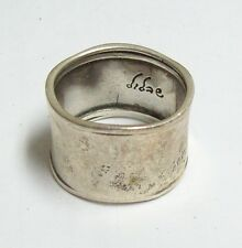 Israel DIDAE Silver Sterling Hammered Band Ring