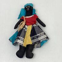 Vtg Primitive Folk Art African American Doll HANDMADE Black Americana
