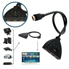 CAVO SWITCH HDMI 1080p 3 PORTE FULL HD TV PRESA MULTIPLA SDOPPIATORE ADATTATORE