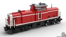 PDF-Bauanleitung: DB V100 (Rot) Güter-Lok aus Noppensteinen, u.a. Lego