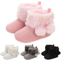 Baby Fashion Warm Winter Snow Booties Baby Crib Pram Shoes Princesses Snow Boots