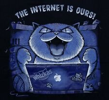 """""""The Internet is Ours"""" Cat Parody Men's Small Shirt Teefury"""