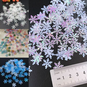 300Pcs/Bag Christmas Snowflakes Ornaments Window Snowflake Xmas Party Decor DIY