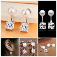bijoux square mariage boucles d'oreilles oreille étalon crystal strass argenté