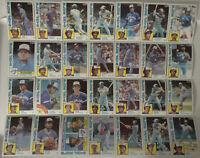 1984 Topps Toronto Blue Jays Team Set of 28 Baseball Cards