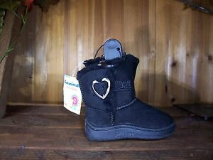 GARANIMALS TODDLER GIRLS CASUAL SHOES SIZE 5 COLOR BLACK HEART DESIGN BUCKLE NEW