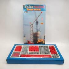 Vintage Fischertechnik Tower Crane Model Building Set- In Box w/ Manuals & Parts