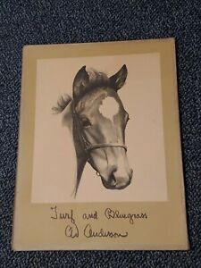 Antique Turf & Bluegrass C.W. Anderson Portfolio Of 15 Lithographs 1952