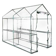NEW 1.9M x 1.2M Sturdy Steel Frame Garden Greenhouse with Transparent PVC Cover