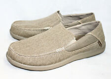 CROCS Santa Cruz 2 Luxe Loafer 202056 Men's 13 Khaki Canvas