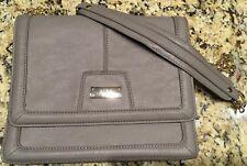 BCBG Paris Taupe Crossbody Bag Purse Two Compartments Gold Tone Chain Strap NWOT