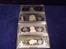 "TYPE SET OF 4 UNITED STATES ""CLASSIC"" NOTES EA CONTAINS 4 T. O.  OF .999 SILVER"