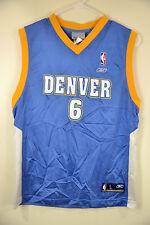 Reebok Denver Nuggets Jersey #6 Kenyon Martin NBA Jersey youth Large 14-16 Blue