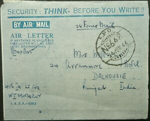 INDIAN OCCUP. FORCES IN DUTCH EAST INDIES 24 JUN 1946 AIR LETTER TO DALHOUSIE