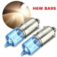 1X AMBER H6W 12v 21w Halogen Side Light Car Bulb Ring R434 434 BAX9S OFFSET PIN