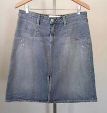 Paper Denim & Cloth New Retro Womens Blue Distressed Denim Skirt Size 30