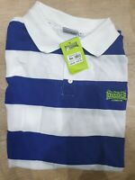 LONSDALE T Shirt Mens NEW. PACKAGED  SMART STRIPED POLO PURPLE AND WHITE