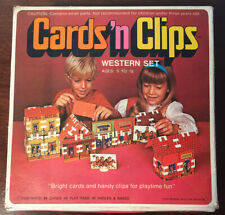 VINTAGE 1973 KENNER GENERAL MILLS * CARD 'N CLIPS WESTERN SET * #4460