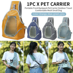 Portable Front Backpack Pet Carrier Outdoor Travel Comfortable Mesh Small Dog/
