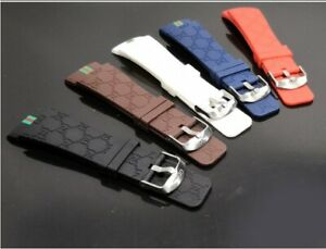 I Gucci Digital watch band New WITH 4 SCREWS Rubber strap band for 114 series