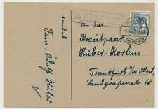 Landpoststempel UTTRICHSHAUSEN ÜBER NEUHOF (KR. FULDA) 1947, Postkarte (28862)