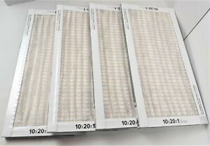 Lot of 4 Filtrete 3M Electrostatic Air Cleaning Filters 10x20x1 Dust Reduction