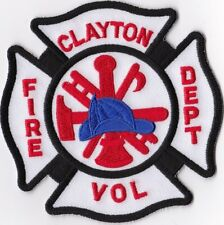 Clayton Fire Dept. VOL Firefighter Patch NEW!!