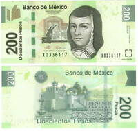 MEXICO 200 Pesos (2008) P-125p P Series X Prefix UNC Banknote Paper Money