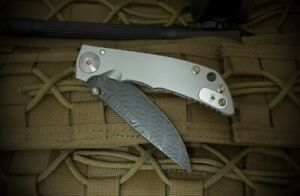 SPARTAN-HARSEY FOLDER 3.25 Chad Nichols Damascus