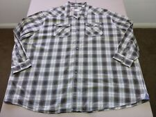 026 MENS NWOT CUTTER & BUCK STONE / CHOC / GOLD CHECK L/S SHIRT 4XB $110.