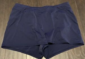LANDS' END 12 Navy Blue Swim Shorts Bikini With Attached Shorts EUC