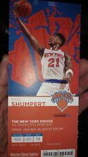 NY Knicks Unused Ticket Stub 1/24/14- Carmelo Anthony 62 Point Game!!