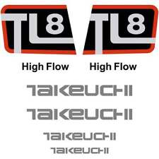 Takeuchi TL8 Decals Stickers Takeuchi Loader Repro Decal Kit