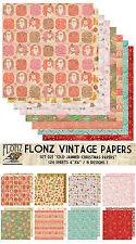 "Paper 24sh 6""x6"" # Jammed Paper Christmas Santa # Flonz 021 Craft Scrapbooking"