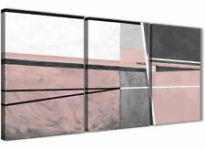 3 Panel Blush Pink Grey Painting Office Canvas Wall Art - Abstract 3393 - 126cm