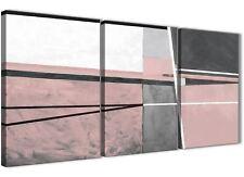 3 PANNELLO Blush Rosa Grigio dipinto art. a muro per ufficio-Astratto 3393 - 126 cm
