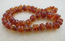 Amber necklace jewelry natural genue beads stone ball 202 g. n/r