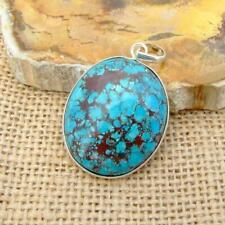Turquoise 925 Sterling Silver Oval Pendant Indian Jewellery
