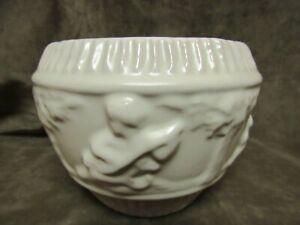 circa 1930's Roseville art Pottery Donatello Ivory Glaze Sm Jardinière Bowl Vase