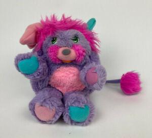 "Vtg PRETTY BIT Popples PLUSH 8"" Stuffed ANIMAL TcFc 1986 Purple PINK Blue SMALL"