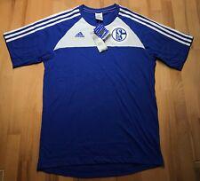 FC Schalke 04 Adidas T-Shirt königsblau blau-weiss S04 Shirt Grösse S NEU